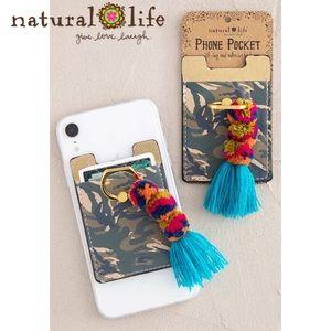 Natural Life Camo Tassel Phone Pocket Ring